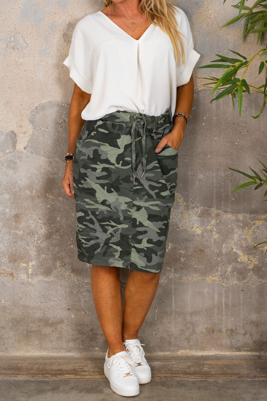 Stretch dress - Camouflage - Khaki