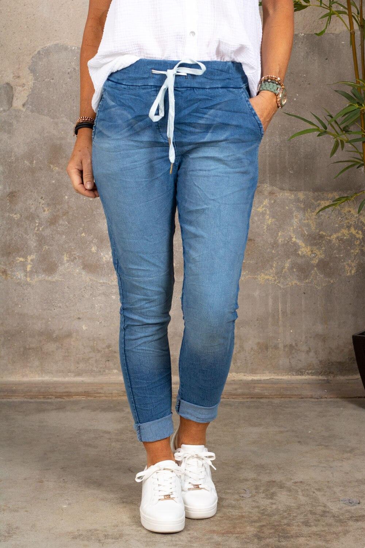 Stretch jeans - With tie - Denim