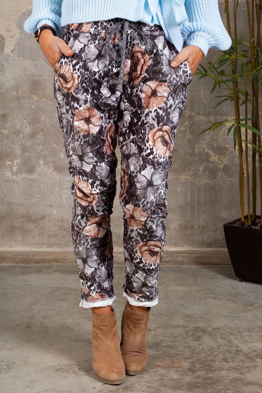Stretch pants - Suede imitation - Blom & Leo - Gray