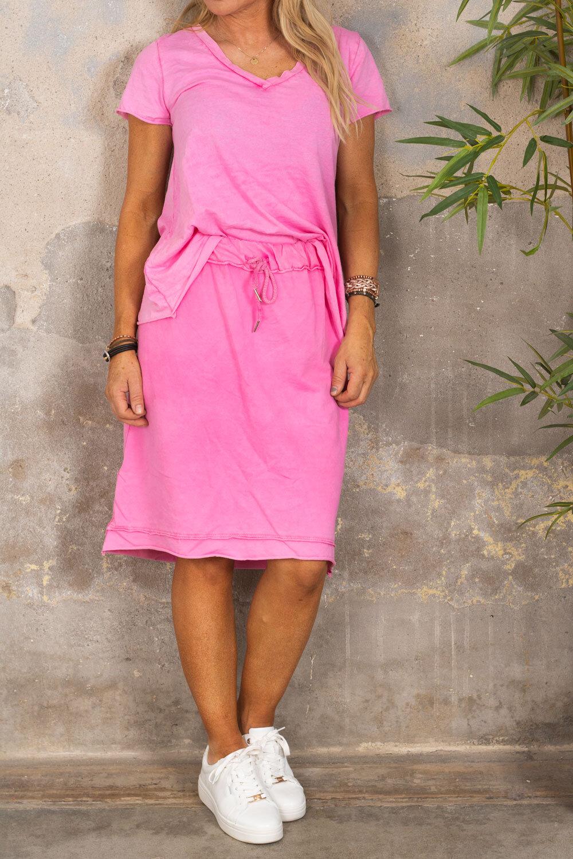 Sweatshirt skirt - Cerise