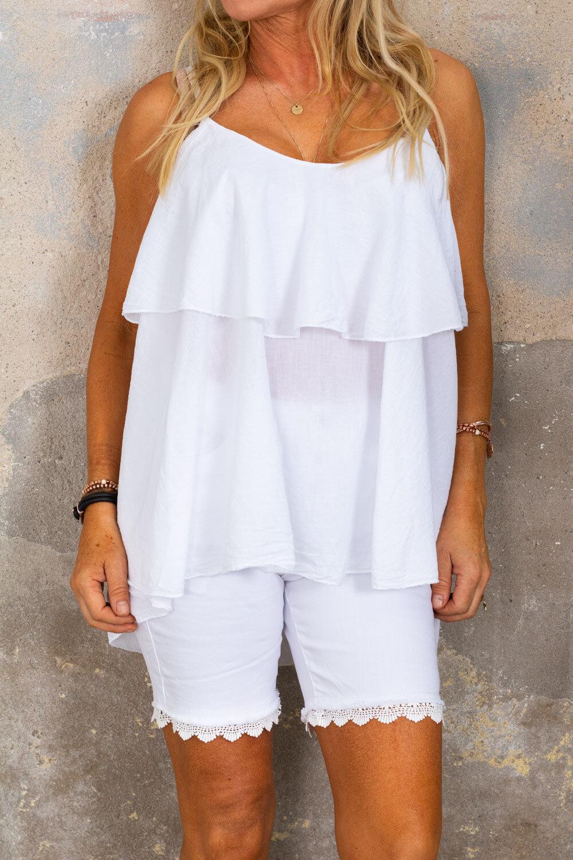 Tatiana linne flounce - White