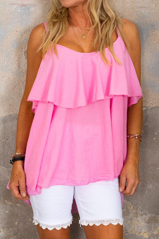 Tatiana linne flounce - Pink