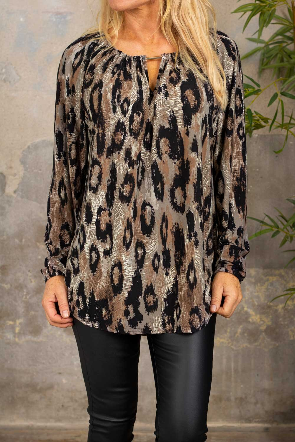 Taylor tunic - Leopard pattern - Taupe