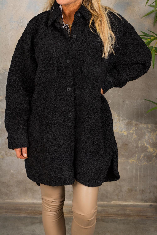 Teddy jacket - Black