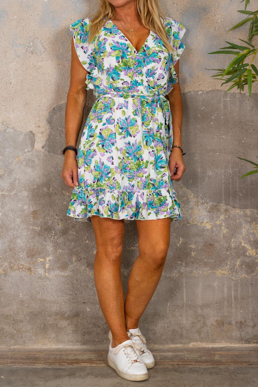 Thea dress - Flowerpaint - Cream