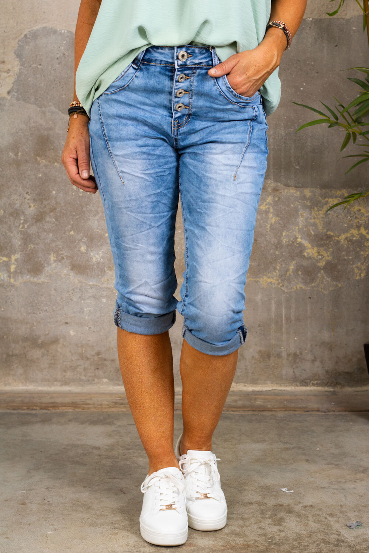 Three-Quarter Jeans  PC26127 - Light wash
