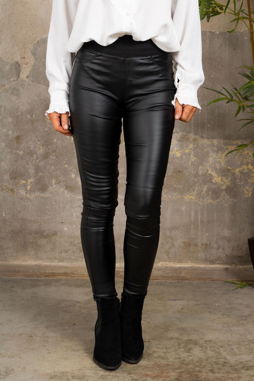 Waxed leggings 19209 - Black