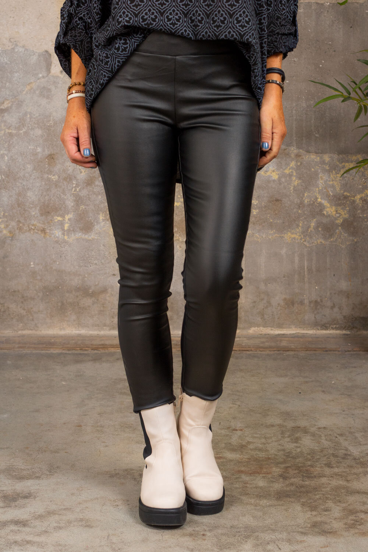 Waxed leggings 19212 - Black