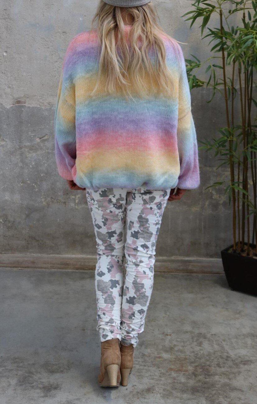 Emelie knitted cardigan - Rainbow