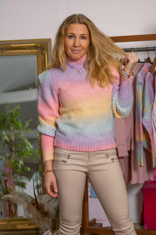 Kimberly knitted polo shirt - Rainbow