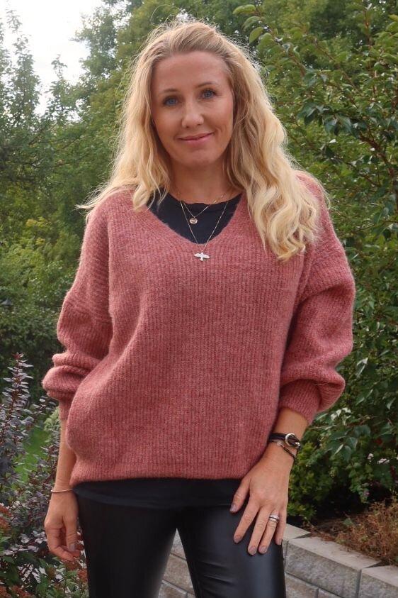Mira Knitted sweater - Pink