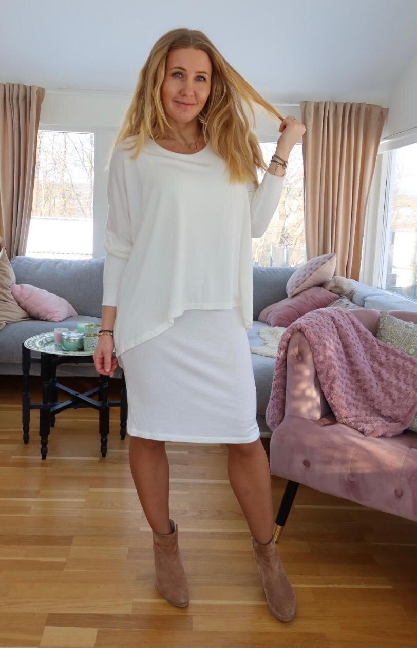 Naomi Fine Knit Dress - Cream