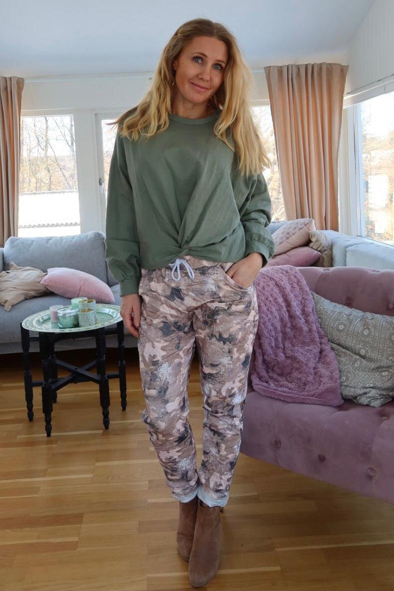 Stretch pants - Camouflage - Sand